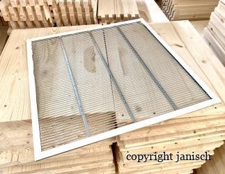 Rundstabgitter mit Rahmen verpresst; ZAMU10 / 420x490  Bild