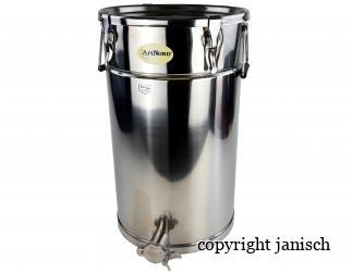 Abfüllbehälter 50 kg aus Edelstahl   Bild