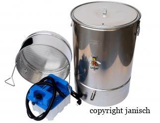 Kleinwachsschmelzer aus Edelstahl mit Dampfmeister Bild