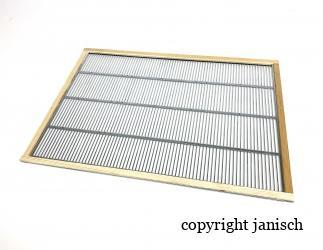 Rahmen mit Rundstabgitter; 420x350 passend für eine Seite Einraumbeute Bild