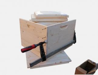 BK Zarge zum selber bauen; EM 1  1/2  Quadrat / 435x435 Bild