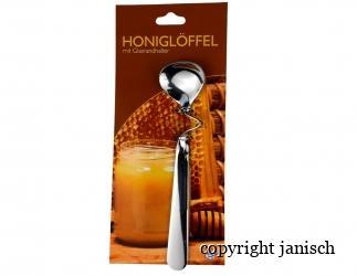 Honiglöffel mit Glasrandhalter Bild