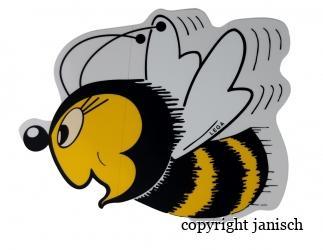 Aufkleber; große Biene Bild