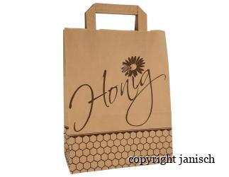 Papier - Targtaschen;  -Honig- / 50 Stück Bild