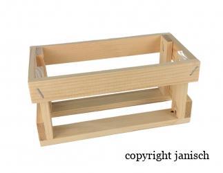 Geschenkspackung aus Holz  Bild