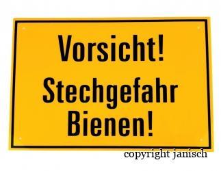 Warnschild - Stechgefahr  30 x 20 cm Bild