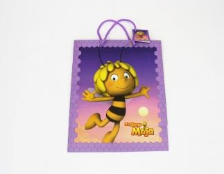 Geschenktaschen groß; Biene Maja ca. 27x13,5x33 cm, violett  Bild