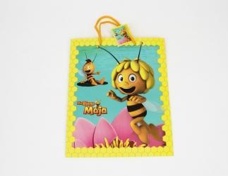 Geschenktaschen groß; Biene Maja ca. 27x13,5x33 cm, gelb Bild