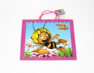 Geschenktaschen groß; Biene Maja ca. 27x13,5x33 cm, rosa Bild
