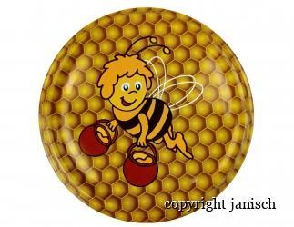 Deckel; *Biene Maja*  für 1000g und 500g Gläser Bild