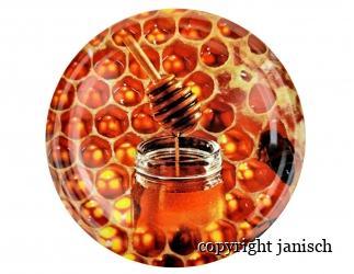 Deckel; *Wabe mit Honigglas*  für 1000g und 500g Gläser Bild
