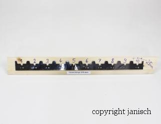 Abstand Streifen Edelstahl 375 mm für 10 Rahmen (25mm) Bild