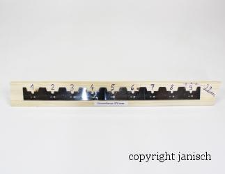 Abstand Streifen Edelstahl 375 mm für 9 Rahmen (22mm) Bild