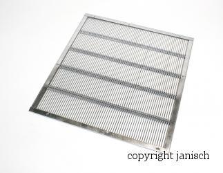 Rundstabgitter 4-seitig eingefasst; 500x500x3,7 Bild
