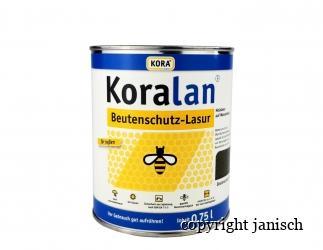 Beutenschutz Lasur Koralan 750 ml;  Tannengrün Bild