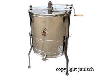 4 Waben Honigschleuder Handbetrieb aus Edelstahl Bild