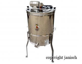 4 Waben Honigschleuder mit Motor aus Edelstahl Bild