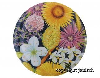 Deckel *Bunte Blüten* für 1000 g und 500 g Gläser Bild