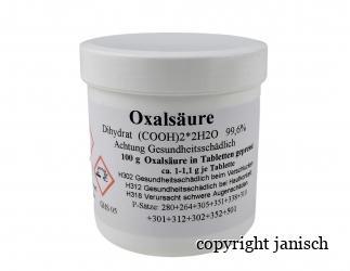 Oxalsäure Tabletten  Bild