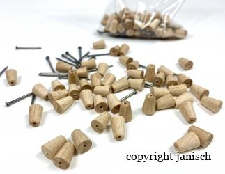 Abstandrolle Holz 10mm Bild