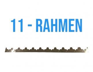 Abstand Streifen Edelstahl 448 mm für 11 Rahmen  Bild
