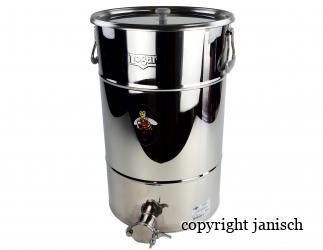 Abfüllbehälter 50 kg aus Edelstahl mit Auflagedeckel Bild