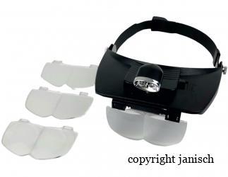 Kopfbandlupe mit Licht Bild
