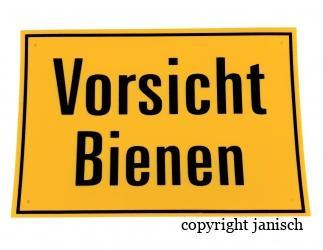 Warnschild 30 x 20 cm Bild