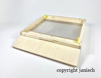 Gitterboden flach; Dadant 12er US mit Anflugbrett / 513x513 Bild