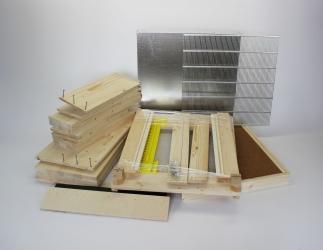 Set selber bauen: Dadant AMI12 / 513 x 513 Falzlos; 9 cm Hoher Boden/ 159 mm HN Bild