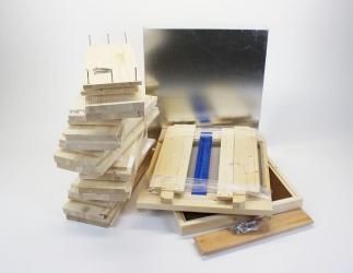 Set selber bauen; EM Quadrat Flachzarge / 435x435  Bild