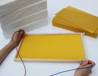 Rückstandsfreie Mittelwände - Wachsplatten Dadant US; 420 x 250 mm Bild