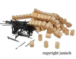 Abstände aus Holz 100 Stk. / Pkg. Bild