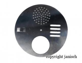 Fluglochstecker rund Edelstahl Durchmesser 125 mm   Bild