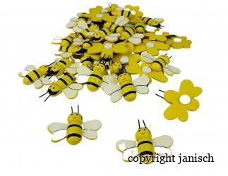 Bienen aus Holz zum Kleben (50 Stück) Bild