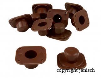 Nicot System-Sockel braun, wird am Rähmchenholz befestigt  10 Stk. Bild