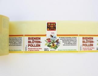 Etiketten Blütenpollen 250 g; 100 Stk. auf Rolle Bild