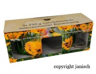Geschenkspackungen  Imkerbund 3x 250g Bild