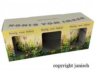 Geschenkspackungen  Blumenwiese 3x 500g Bild