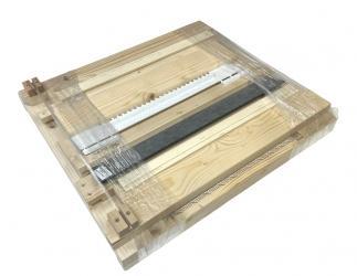 Gitterboden Hoch zum selber bauen mit Anflugbrett; Dadant AMI12 Falzlos / 513x513 Bild