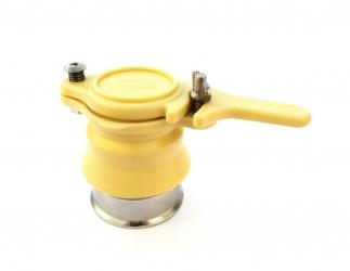 Quetschhahn aus Kunststoff, IMGUT (gelb) mit Messingring Bild