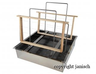Entdecklungsgeschirr aus Edelstahl mit Siebeinsatz; Bild