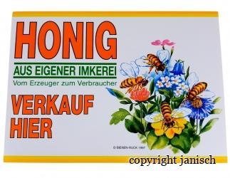 Flores Außenwerbeschild aus PVC;  35x25 cm Bild