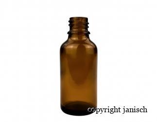 Braunflasche mit gelber Tropfmontur (Propolisflascherl); 40 Stück/Pkg. in der Größen 30ml Bild