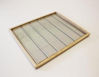 Rahmen mit Rundstabgitter; EMMU Quadrat / 435x435 Bild