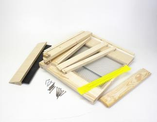 BK Gitterboden Hoch zum selber bauen; Dadant Blatt10 Falzlos / 425x499 Bild