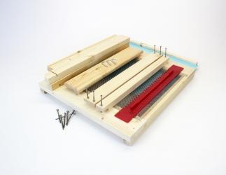 BK Gitterboden hoch zum selber bauen mit Anflugbrett; Dadant 10er US / 425x513 Bild
