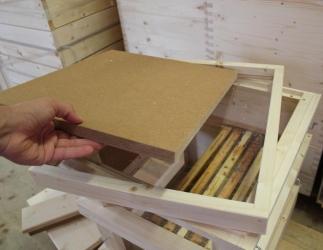 Innendeckel mit Glasboden passend auf Glaszarge; Dadant 12er US, Dadant Blatt12 Bild