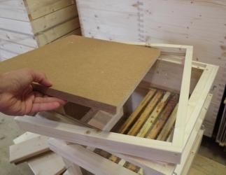 Innendeckel mit Glasboden passend auf Glaszarge; EM-Quadrat / 435x435 Bild